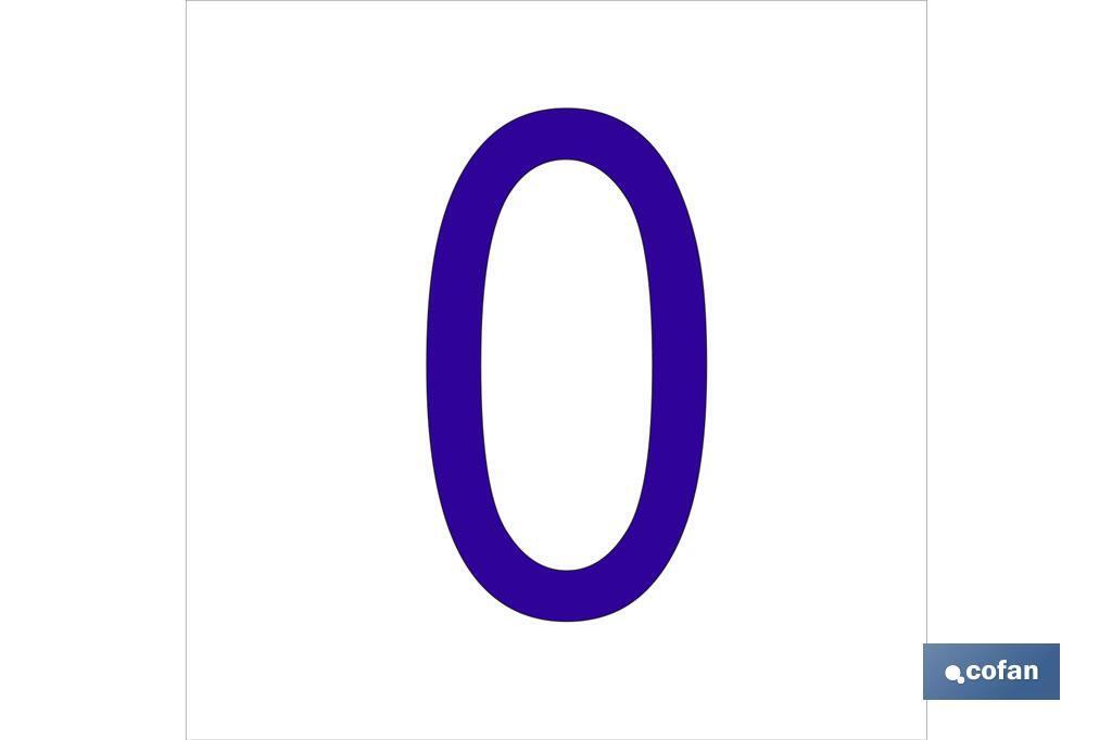 0 Número en glasspack