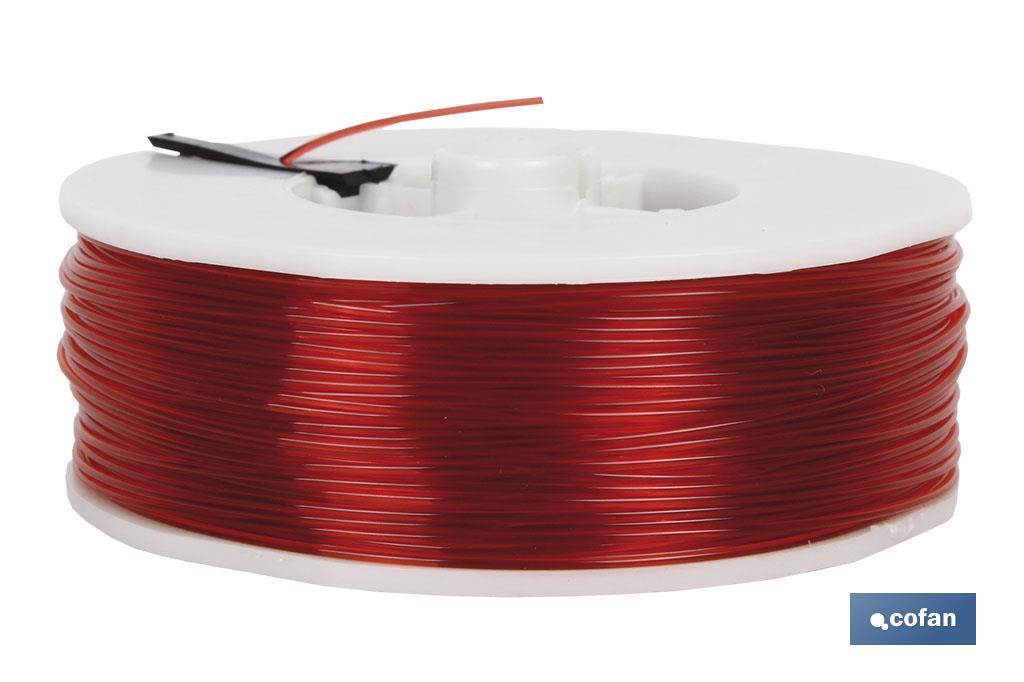 Hilo de Sedal Monofilamento de Nylon 100% Rojo