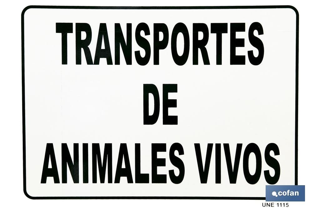Placa Animales Vivos