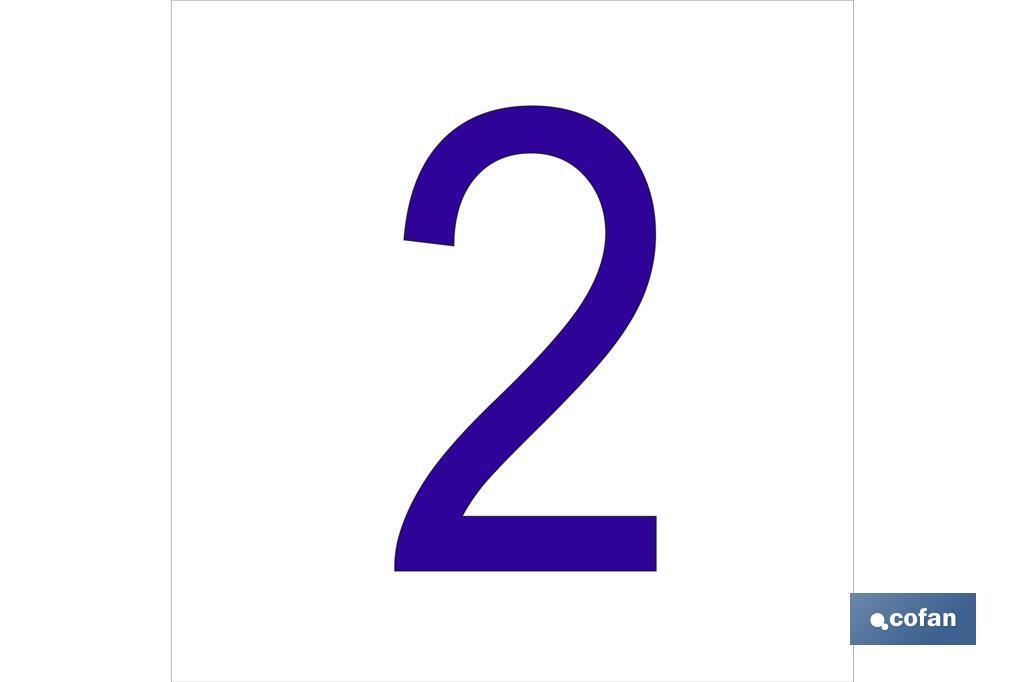 2 Número en glasspack