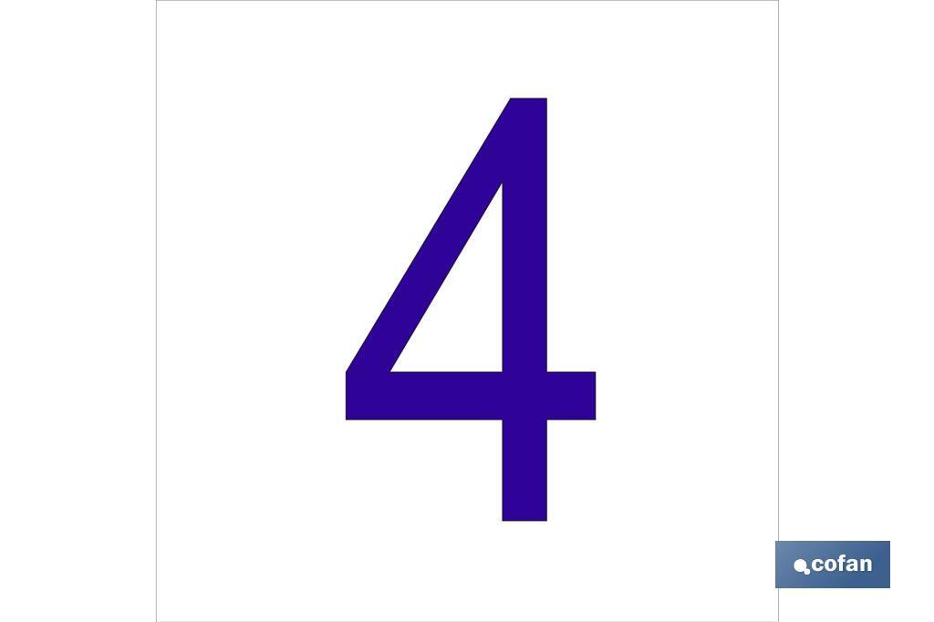 4 Número en glasspack