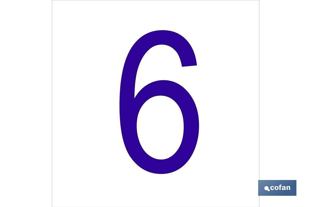 6 Número en glasspack
