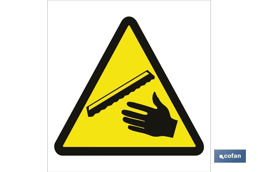 Peligro cuidado manos
