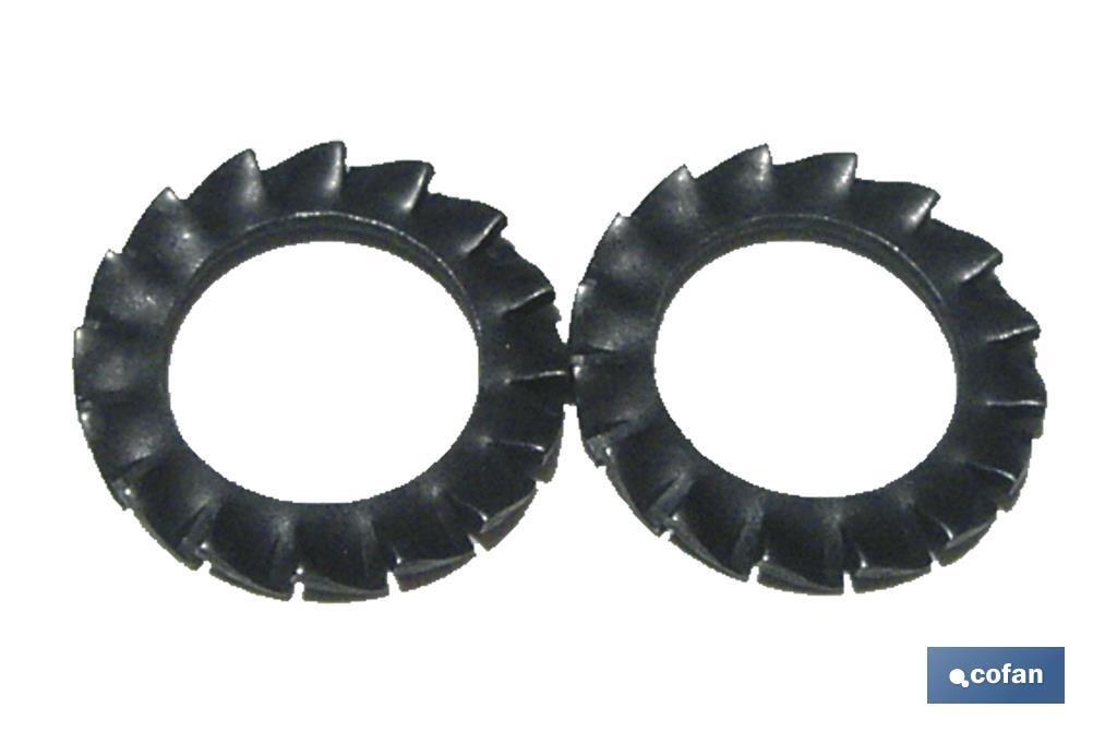 Arandelas Elásticas en Abanico Dentado Exterior DIN 6798 Blíster Estándar