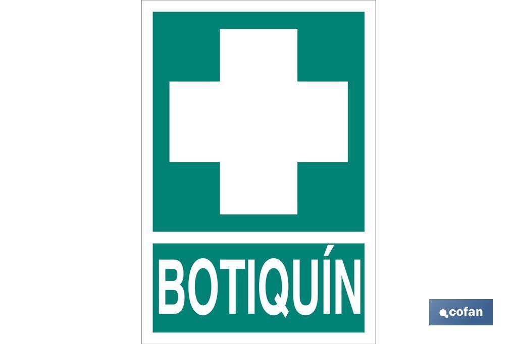 Señal de Botiquín Luminiscente y Adhesiva