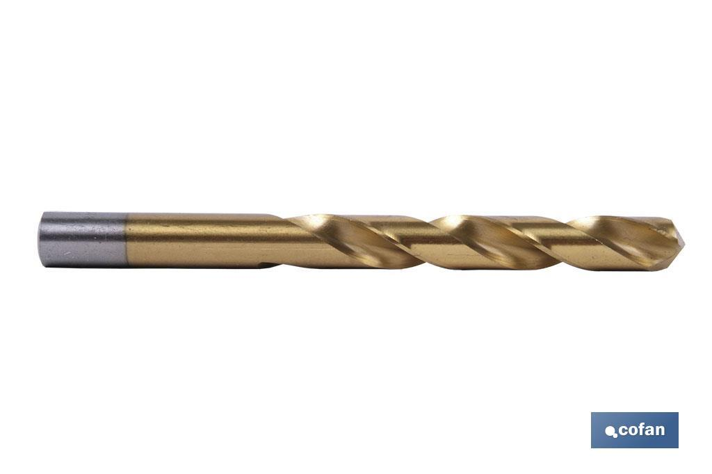 Brocas titanio HSS TIN-DIN 338