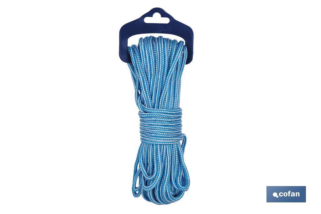 Cordón blanco/azul (Persianas) Blíster