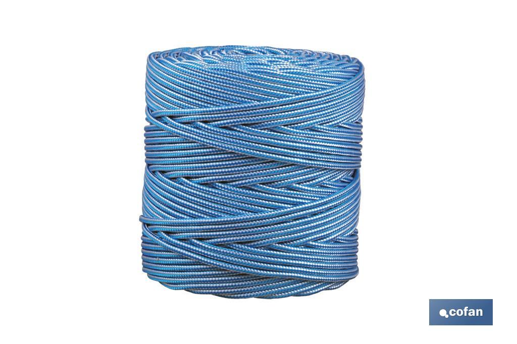 Cordón Trenzado Polipropileno (Persianas) ø 5 mm Blanco/Azul