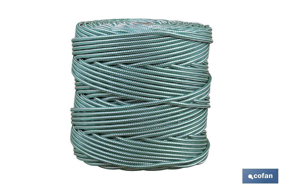 Cordón Trenzado Polipropileno (Persianas) ø 5 mm Blanco/Verde