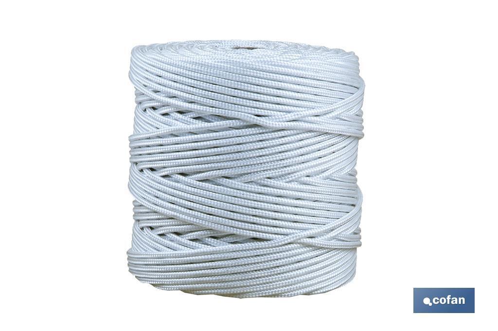 Cordón Trenzado Polipropileno (Persianas) ø 5mm Blanco