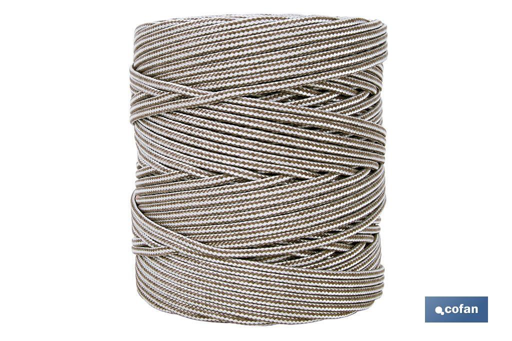 Cordón Trenzado Polipropileno (Persianas) 5mm Marrón