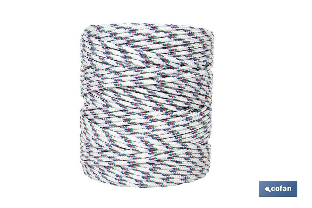 Cordón Trenzado Polipropileno (Persianas) 5mm Tricolor