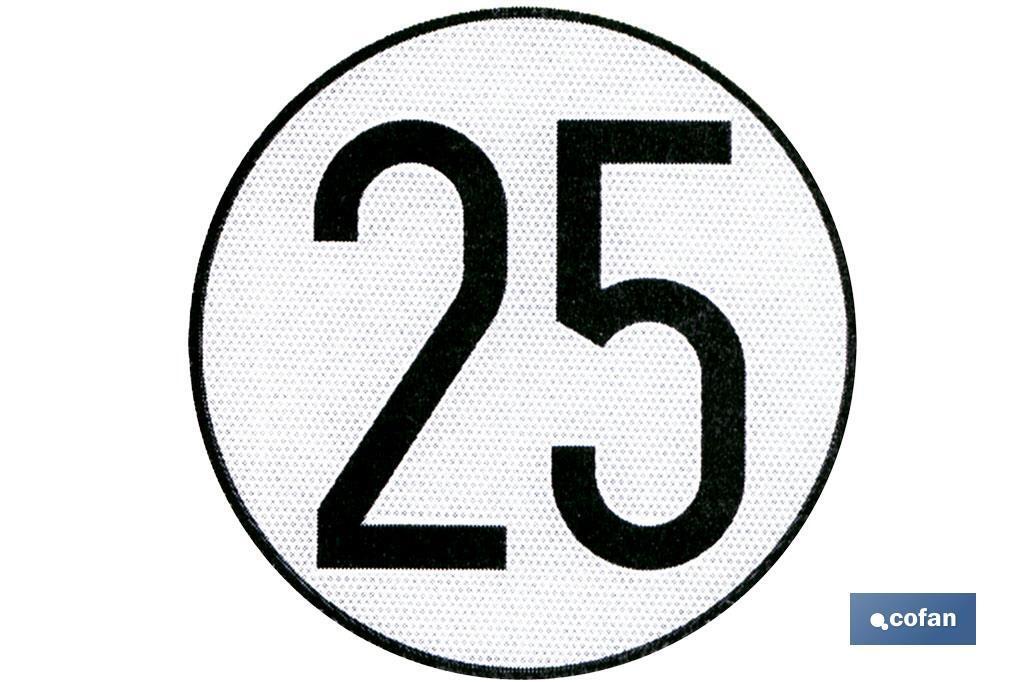 Disco V-4 limitación velocidad (25 km/h)