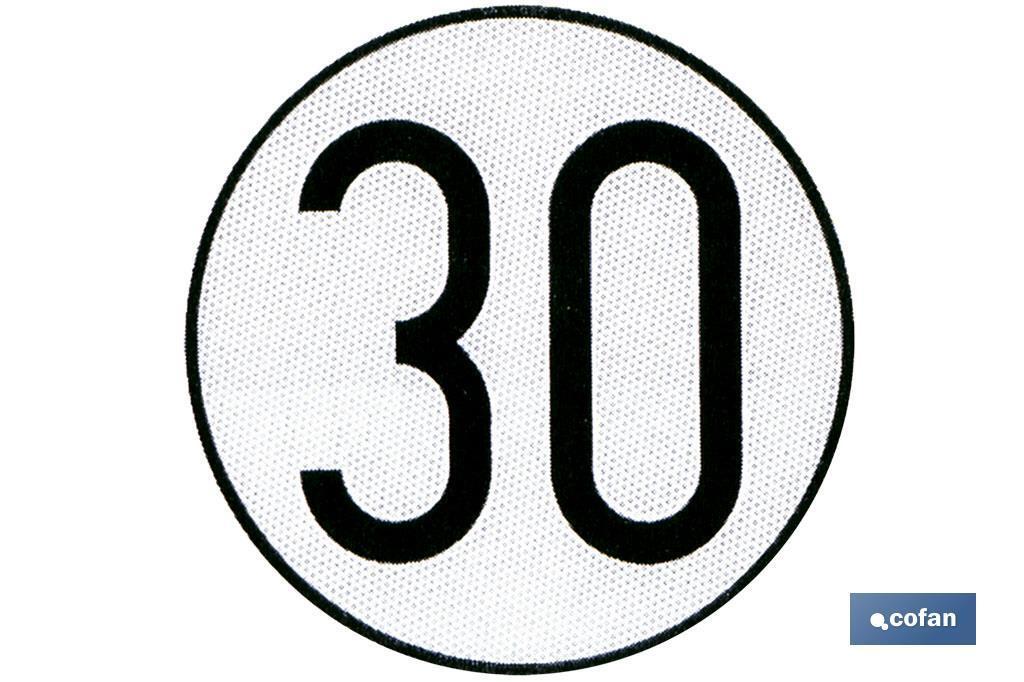 Disco V-4 limitación velocidad (30 km/h)