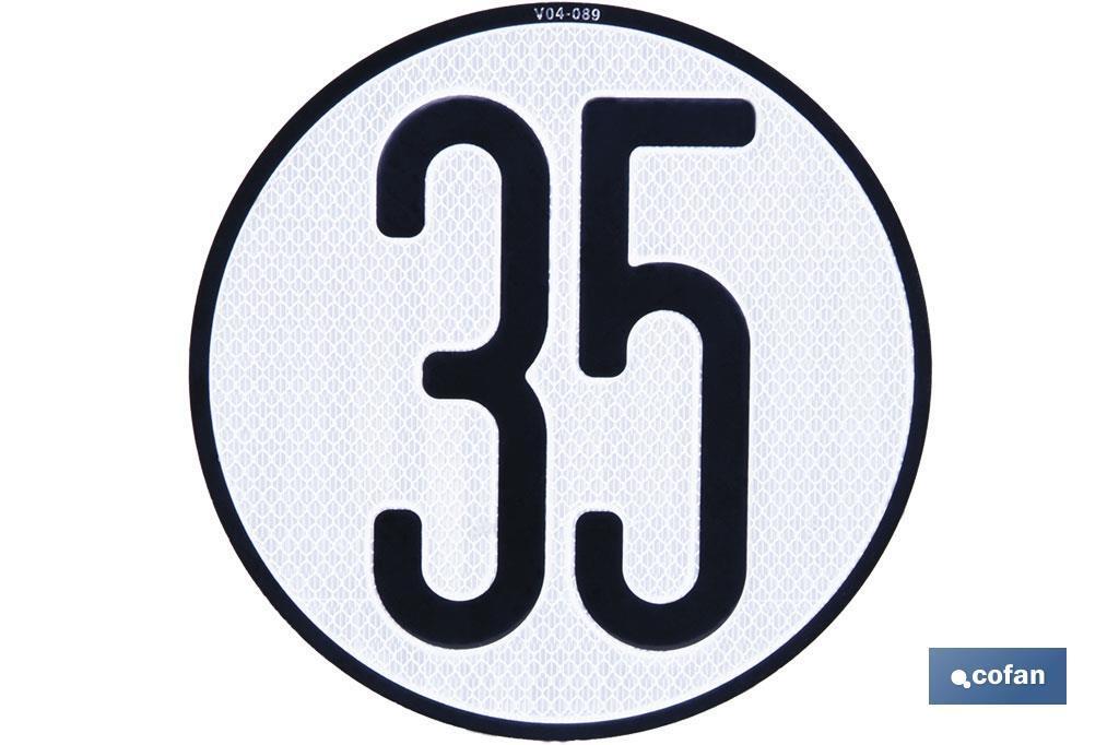 Disco V-4 limitación velocidad (35 km/h)