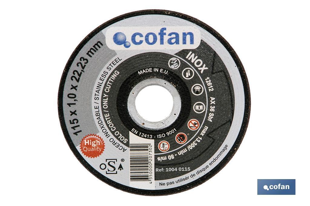 Discos Extrafinos para Acero INOX