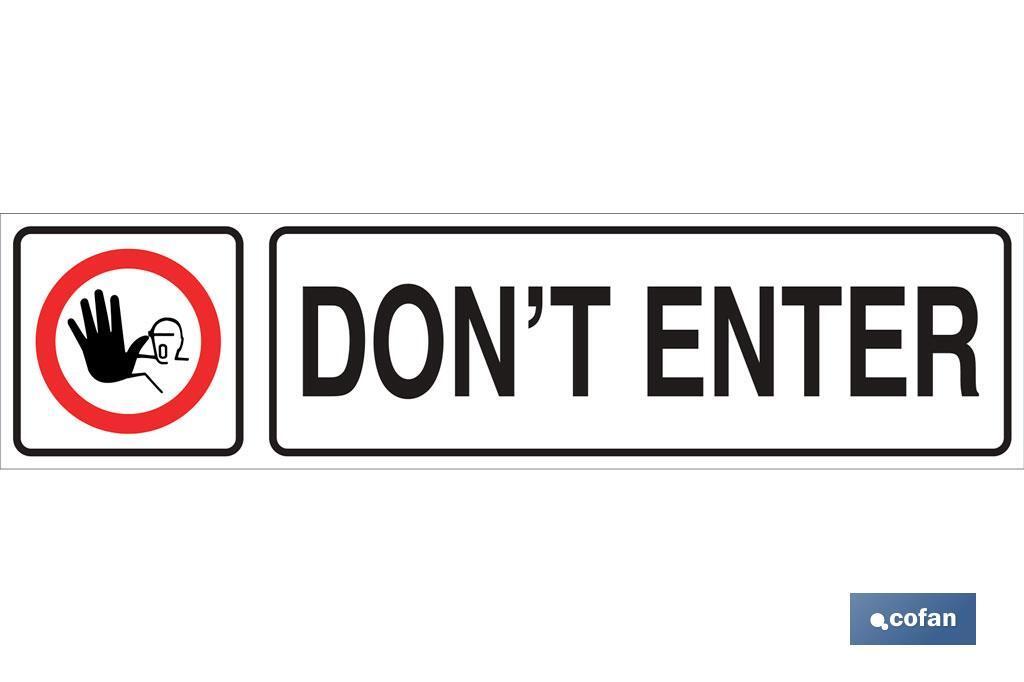 Dont enter