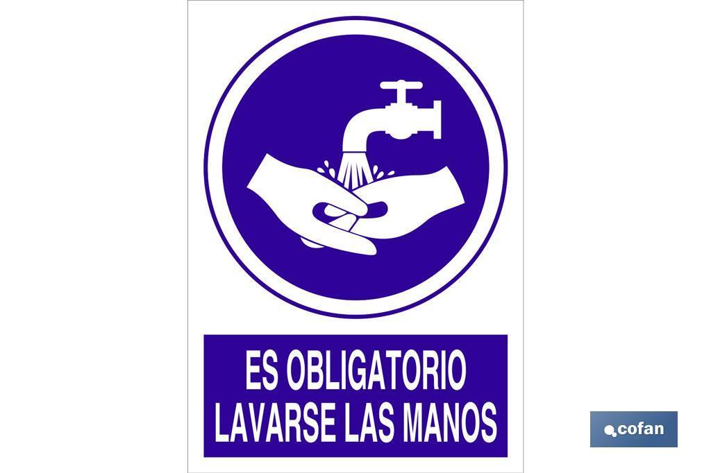 Es obligatorio lavarse las manos