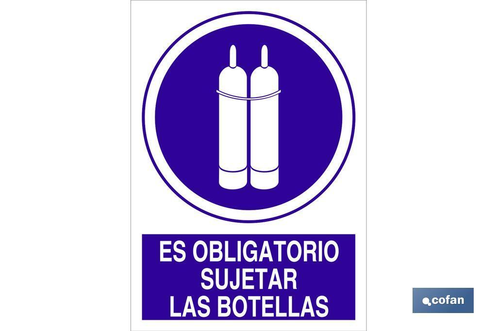Es obligatorio sujetar las botellas