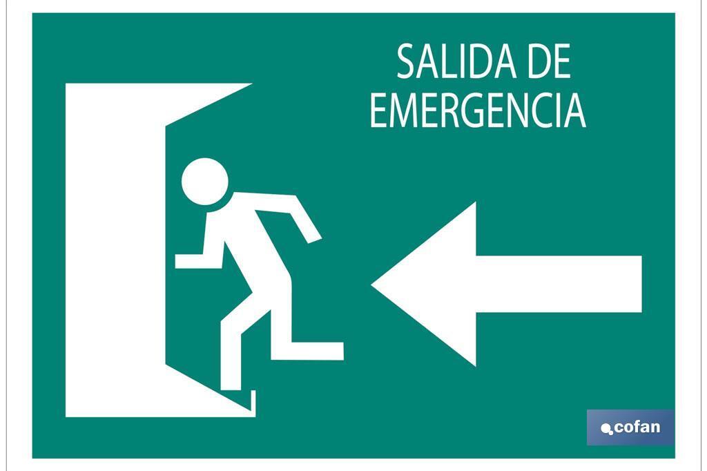 Salida emergencia Izquierda texto