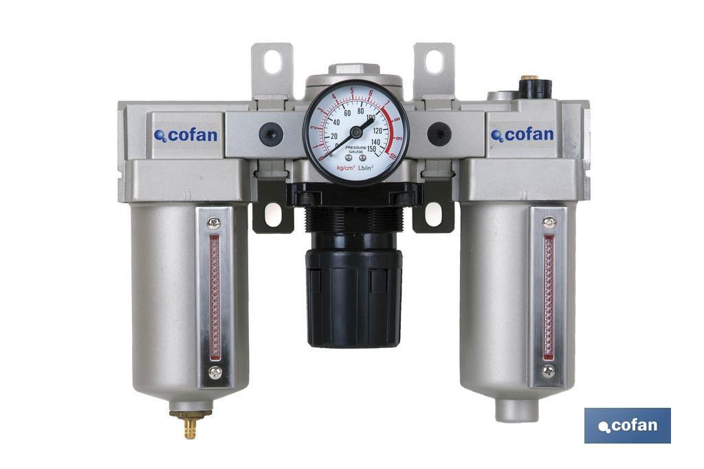 Filtro con regulador y depósito de lubricante 1