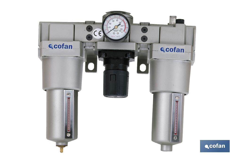 Filtro con regulador y depósito de lubricante 1/2