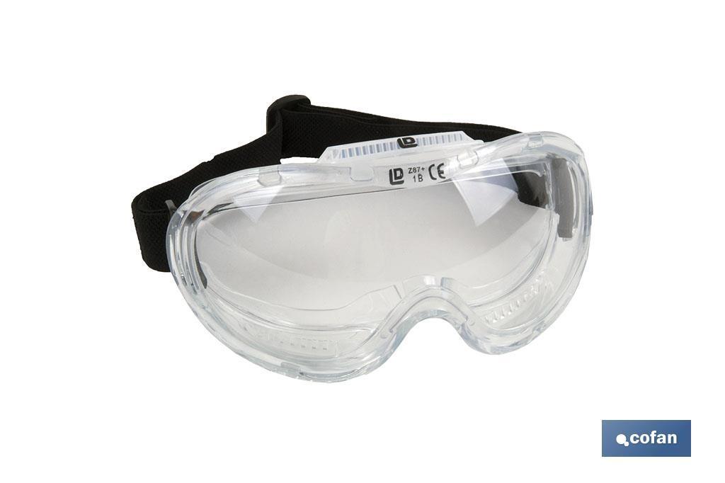 Gafas de Protección contra proyecciones, confortables y ligeras, lentes con tratamiento antirrayaduras, ajuste con goma, protec