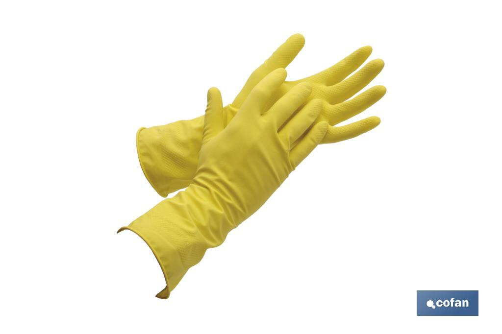 Guantes de Látex Amarillo para Limpieza