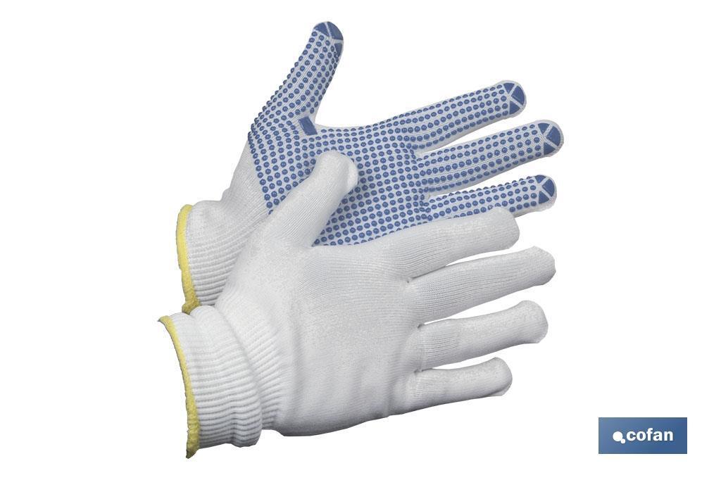 Guantes de Nylon (Con Puntos de PVC)