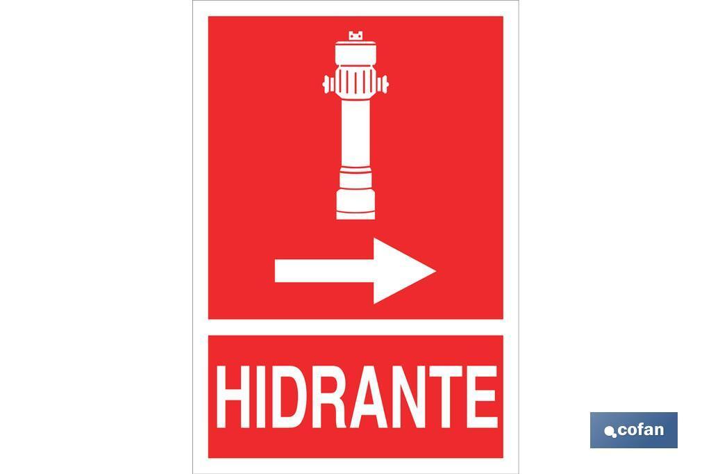 Hidrante Derecha Pictograma + Texto Luminiscente