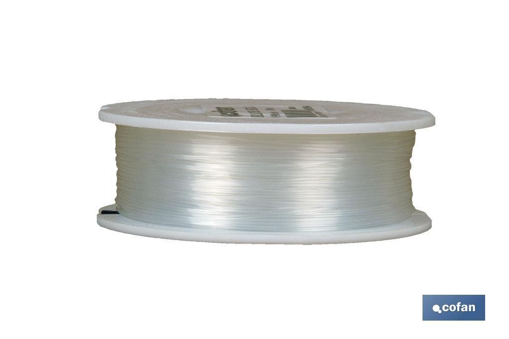Hilo de Sedal Monofilamento de Nylon 100% Blanco