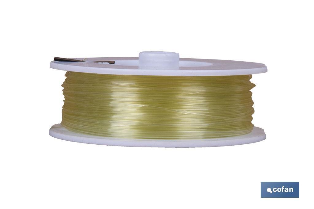 Hilo de Sedal Monofilamento de Nylon 100% Verde