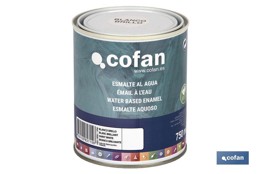 Esmalte al agua 750 ml Gama de colores