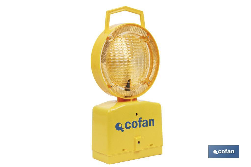 Lámpara baliza señalización con sensor oscuridad
