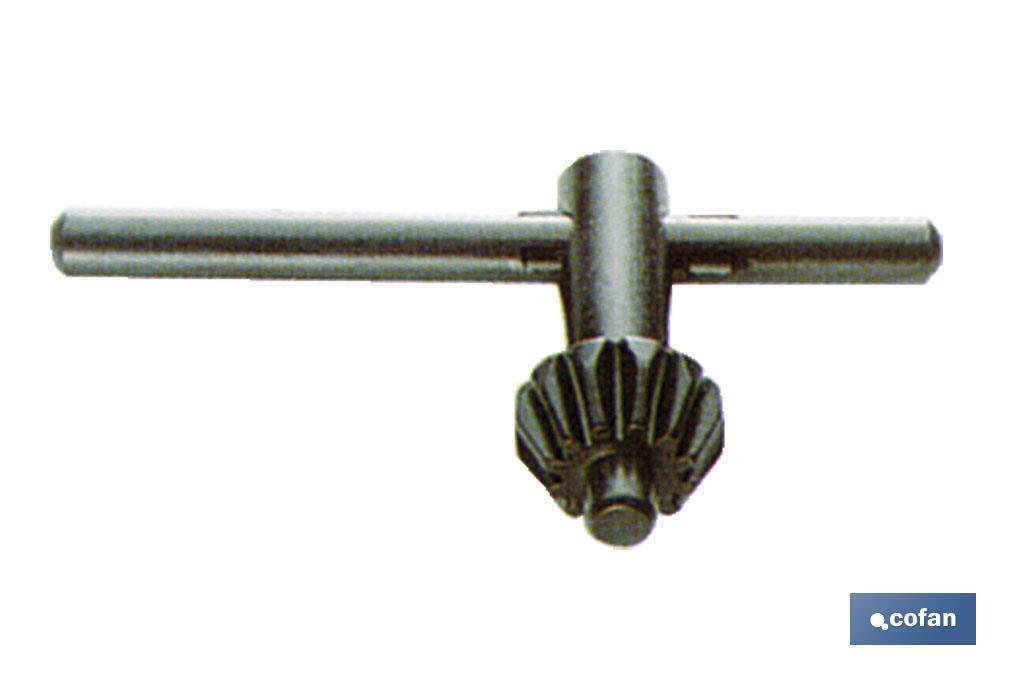 Llave de recambio para mandril con cierre manual