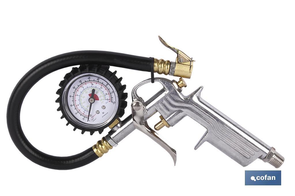 Manómetro e inflador 1-12 bar