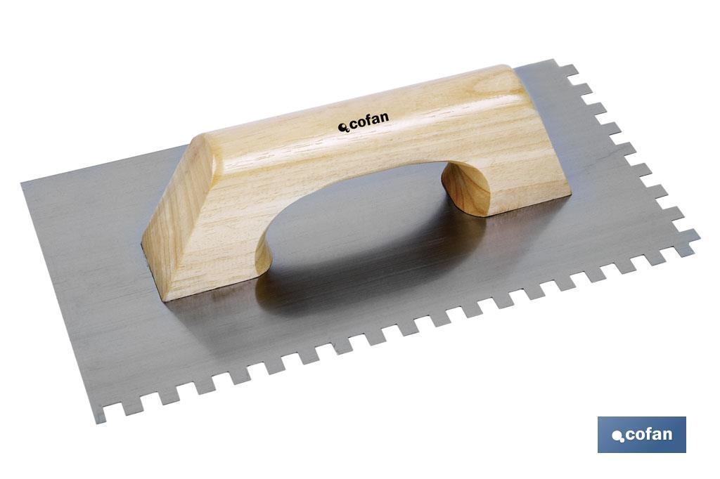 Paleta Modelo llana dentada