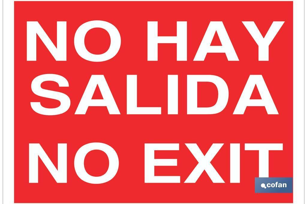 No hay salida. No exit