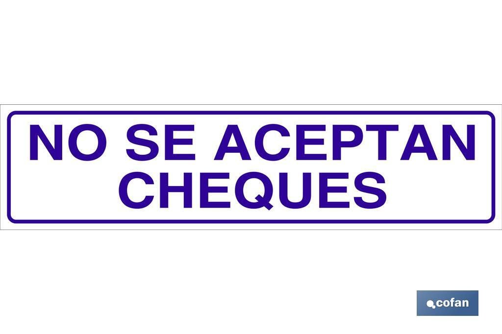 No se aceptan cheques
