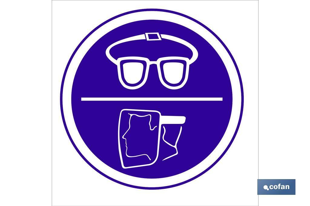 Obligatorio uso gafas/pantalla