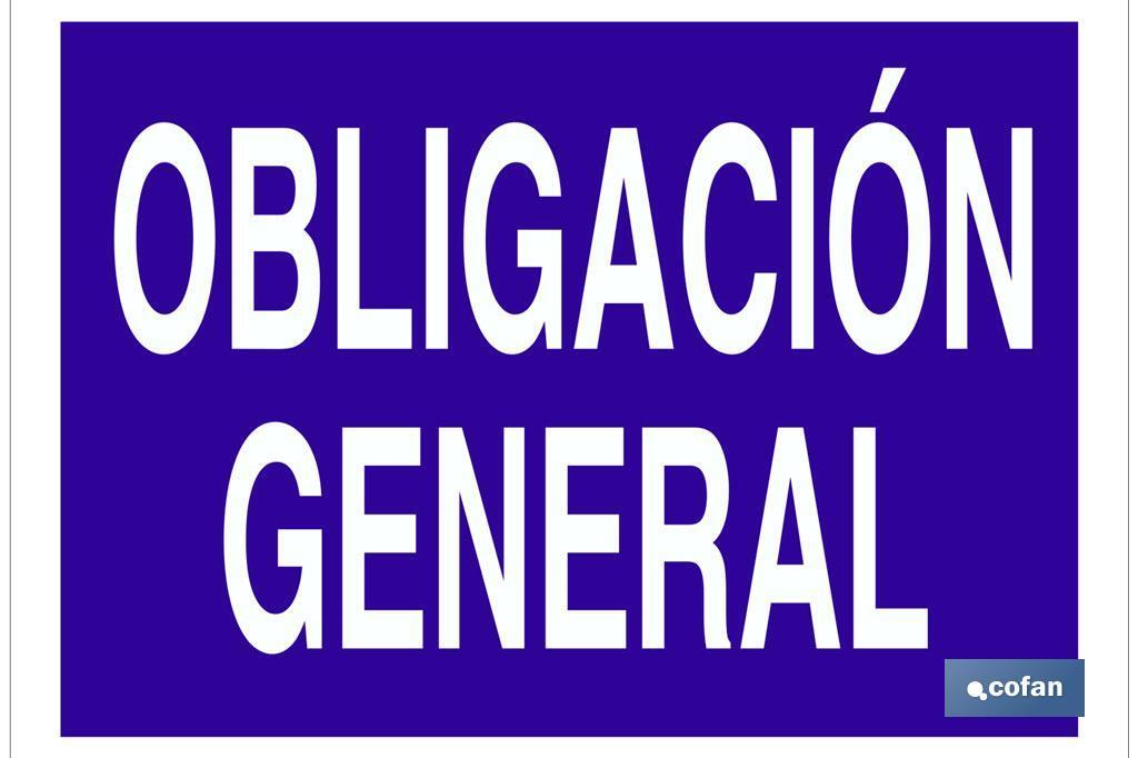 Obligación general