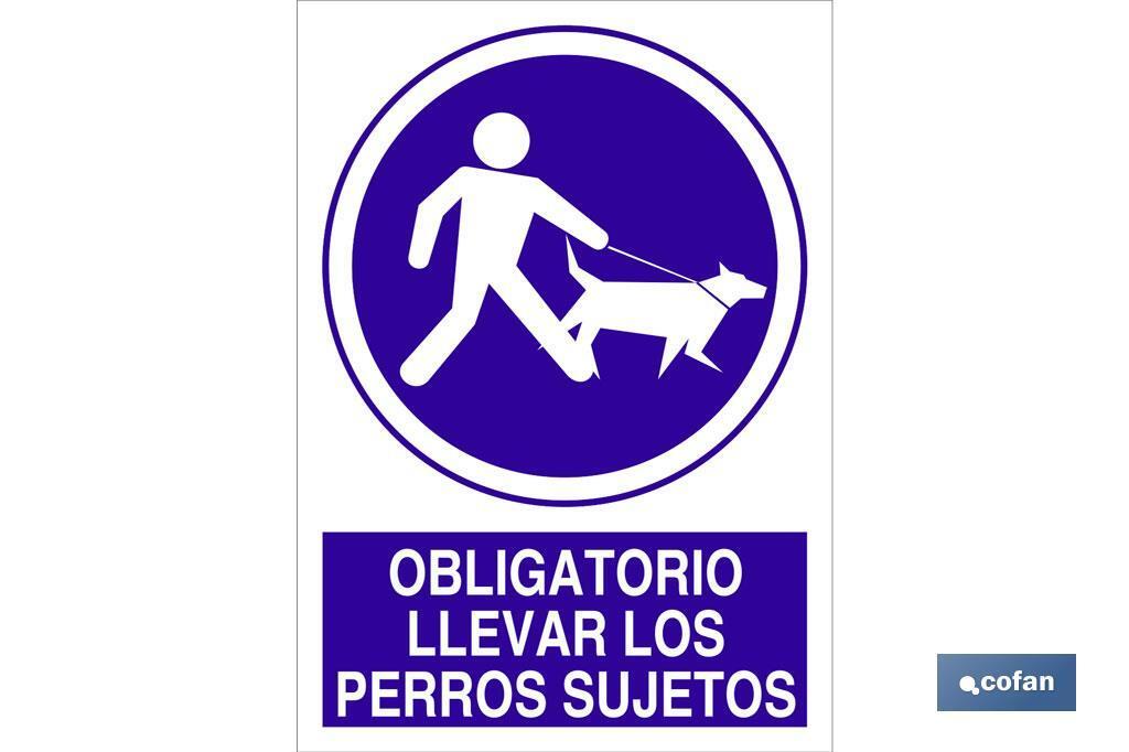 Obligatorio llevar los perros sujetos