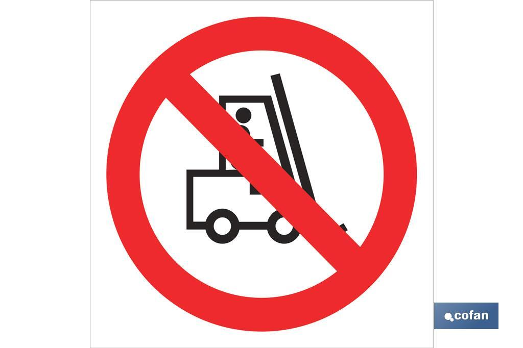 Prohibido carretillas
