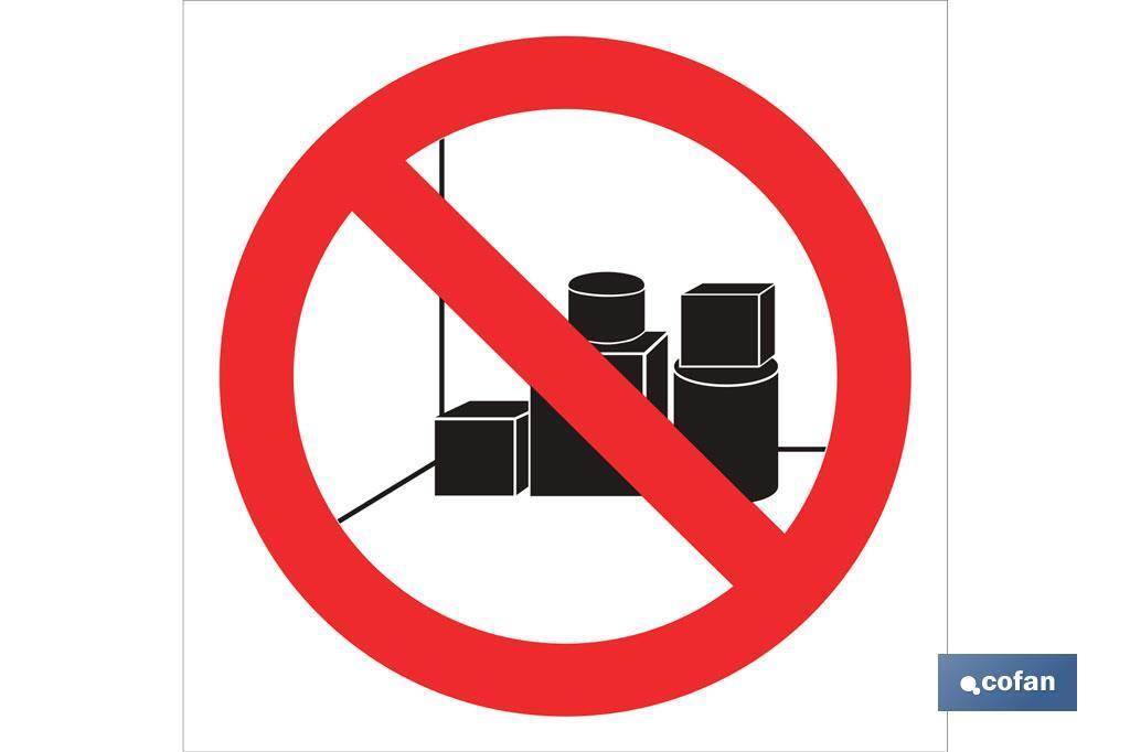Prohibido dejar bultos