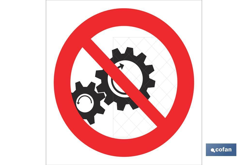 Prohibido tocar engranajes