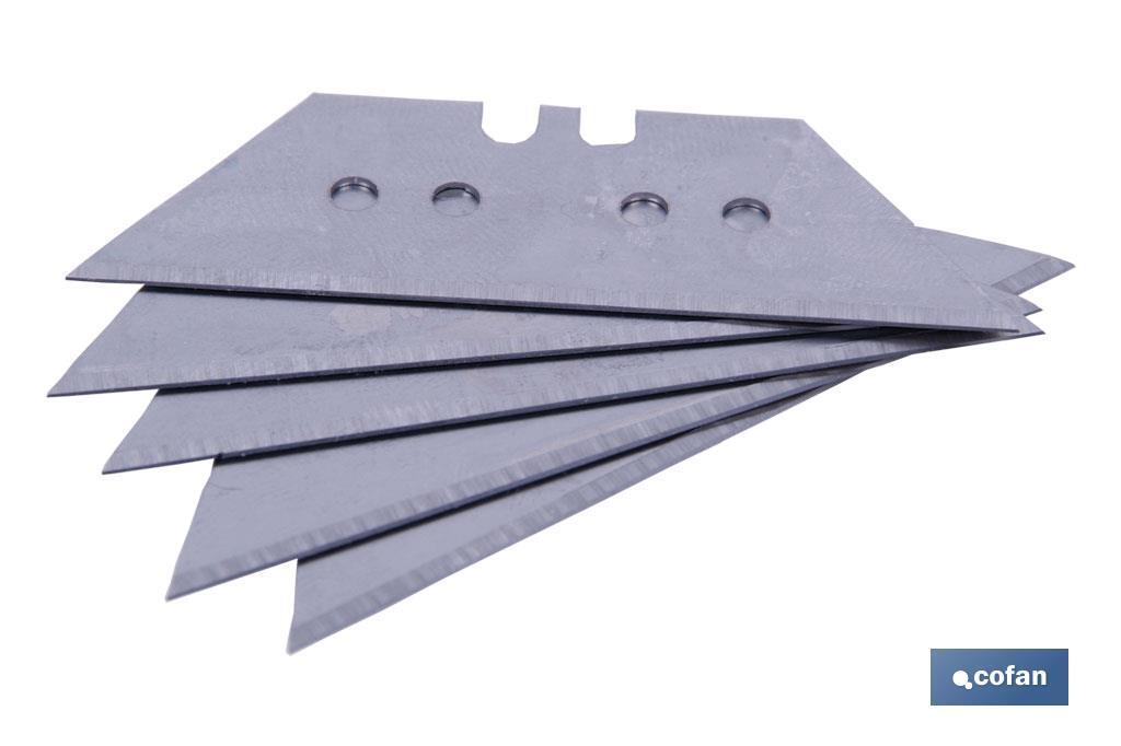 Pack 5 cuchillas trapezoidales 60mm