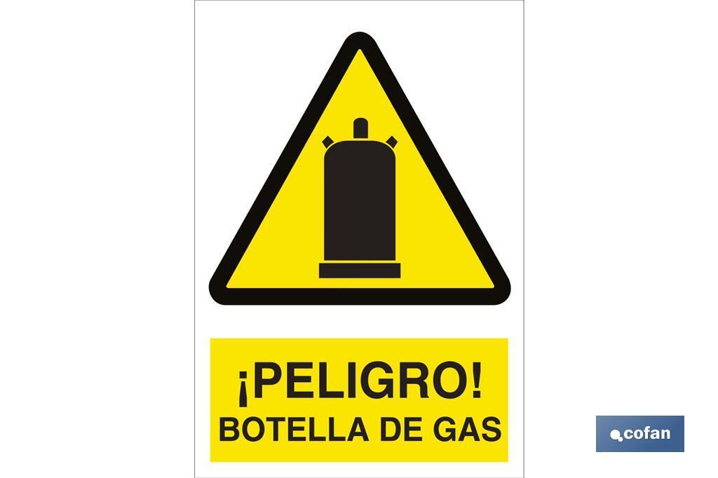 ¡Peligro! botella de gas