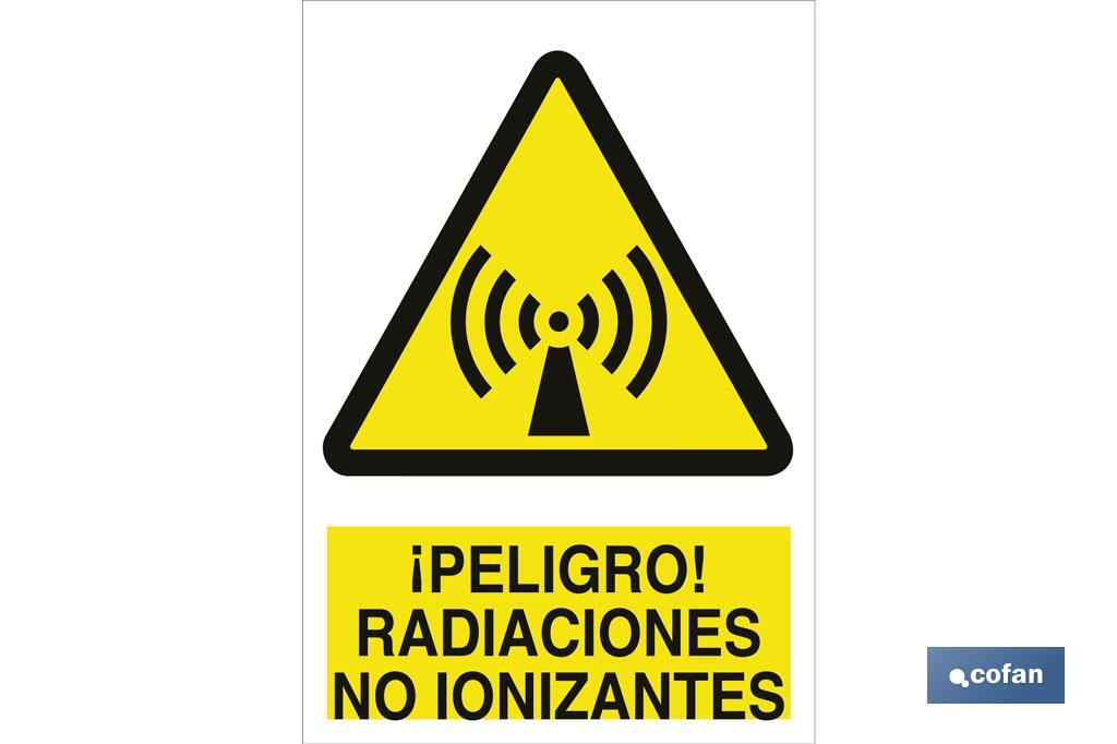 ¡Peligro! radiaciones no ionizantes