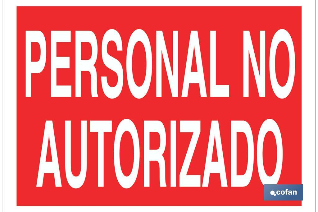 Personal no autorizado