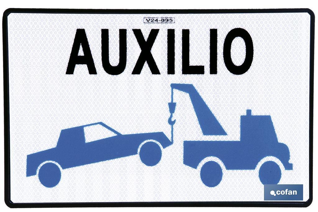 Placa Grúa de Servicio Auxilio en Carretera